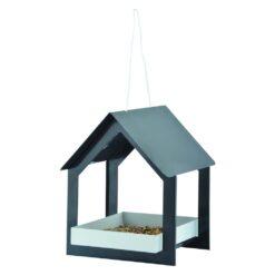 Hangende voedertafel Antraciet/wit design-0